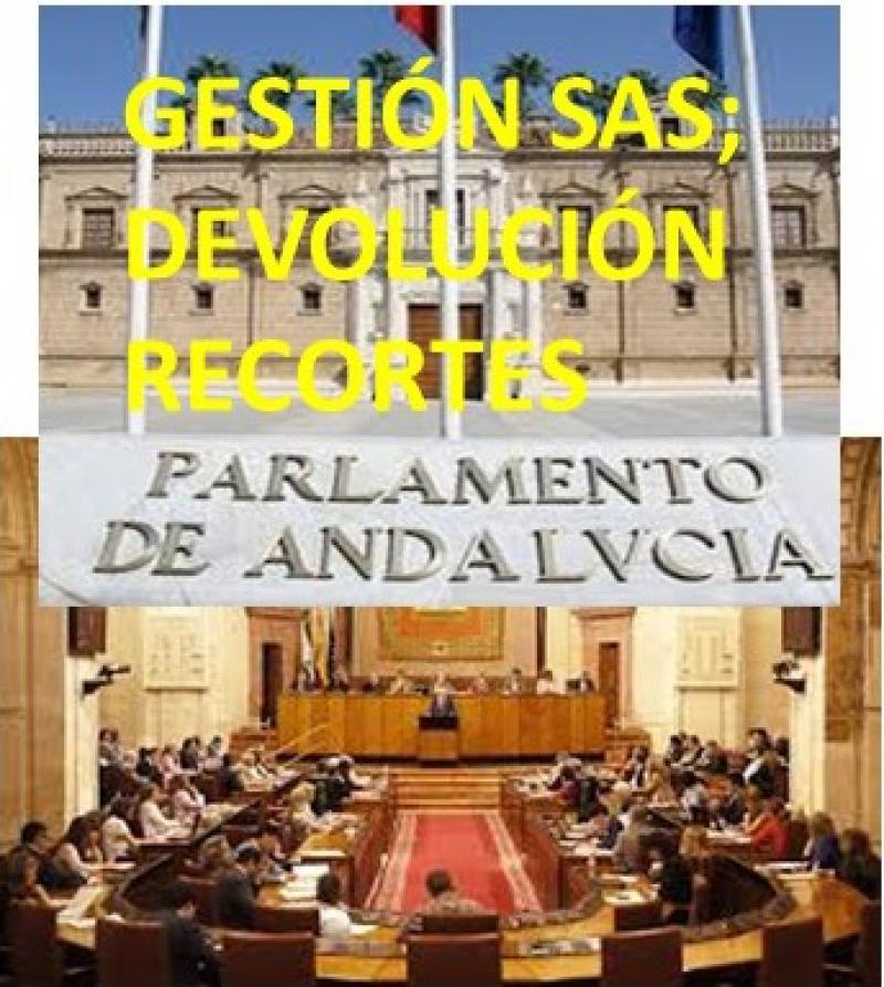Moción en el Parlamento de Andalucía en contra de la política de profesionales del SAS.