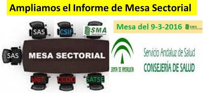Más información sobre la Mesa Sectorial de ayer 9 de marzo.