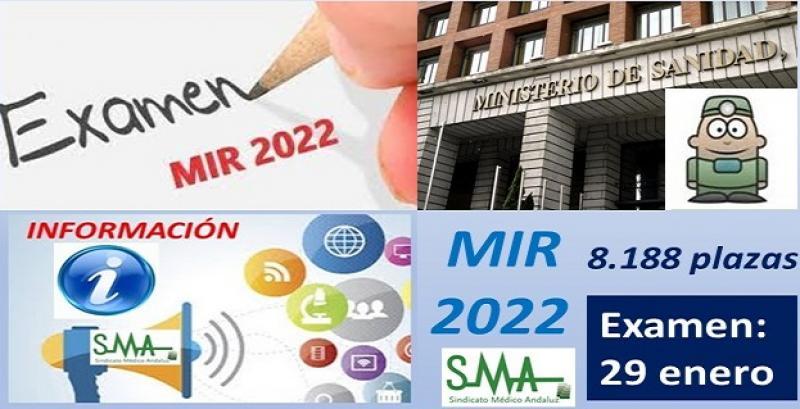 Examen MIR 2022: examen el 29 de enero y adjudicación de plazas telemática.