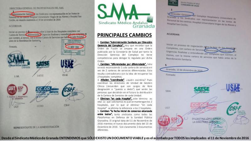 El SMA no firma el acuerdo entre Salud y sindicatos para rediseñar los dos hospitales.