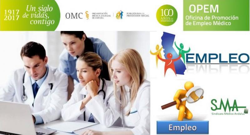 Más de 20 ofertas de empleo para Médicos de Familia, disponibles en la Web de la OPEM.