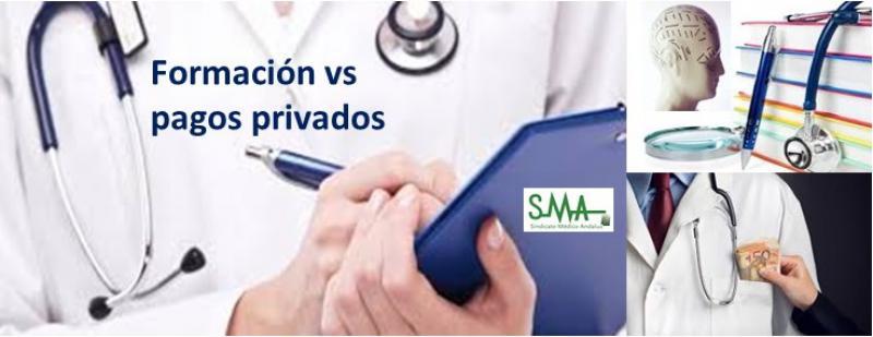 Los médicos piden diferencia legal entre formación y otros pagos privados.