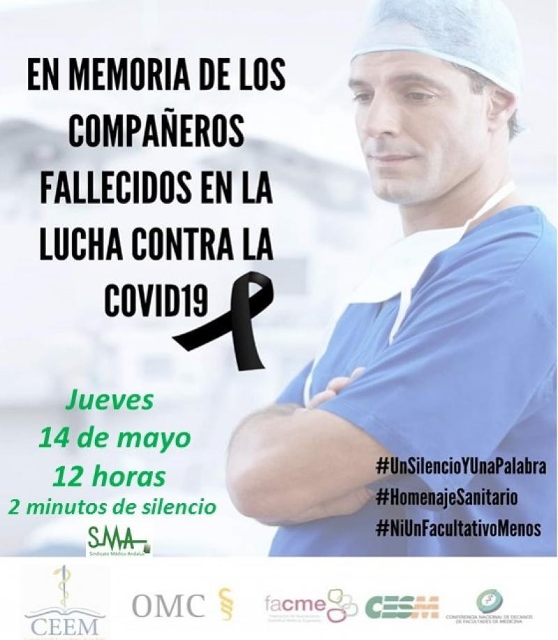 El Sindicato Médico Andaluz en homenaje a los facultativos fallecidos por la Covid-19.
