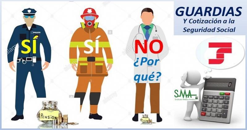 Queremos cotizar nuestras guardias como en otras profesiones (bomberos, policías..) Una justa reivindicación.