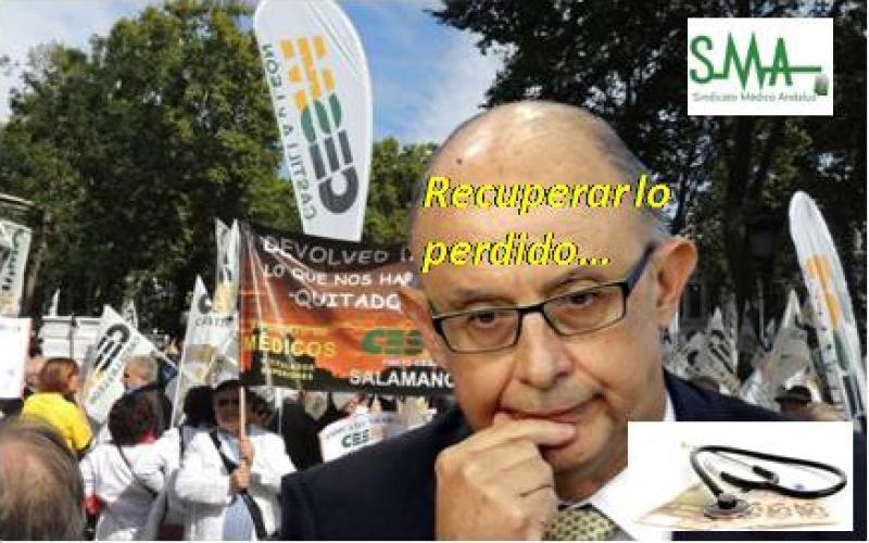 """Los médicos exigimos al Gobierno revertir ya los """"tijeretazos"""" salariales sufridos desde 2010."""