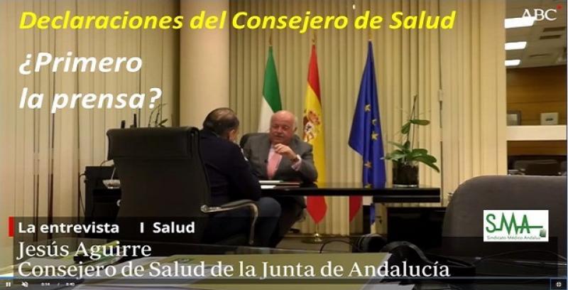 Declaraciones a la prensa del Consejero de Salud, Jesús Aguirre. Seguimos con los mismos vicios que antes...