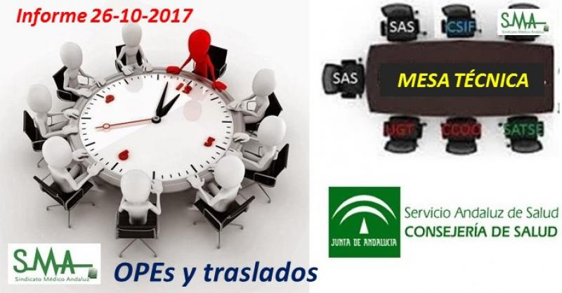 Informe de mesa técnica sobre OPE y traslados. 26-10-2017.