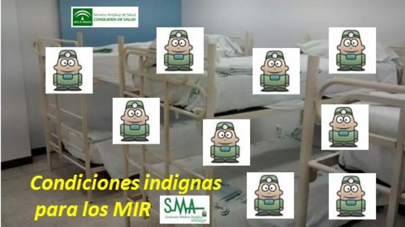 El Sindicato Médico de Málaga denuncia que los MIR duermen «hacinados» en Carlos Haya.