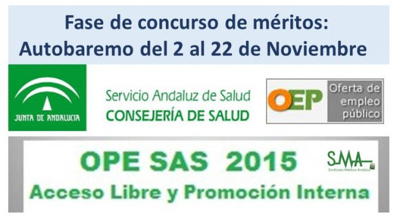 El 2 de Noviembre se inicia la segunda fase de la OEP 2013-2015 con la presentación del autobaremo.