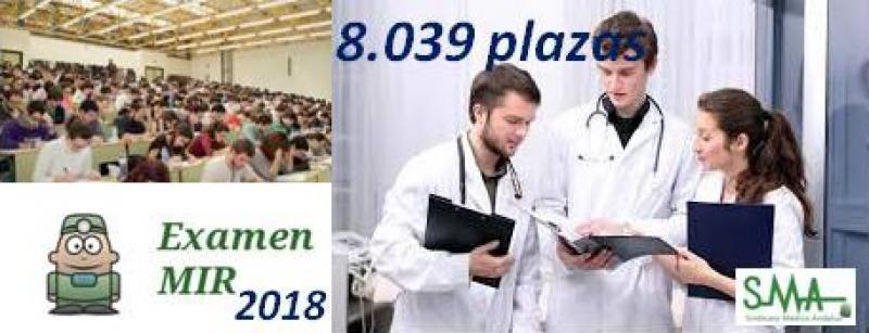 MIR 2018: Sanidad convoca 8.039 plazas, 267 más que el año pasado.