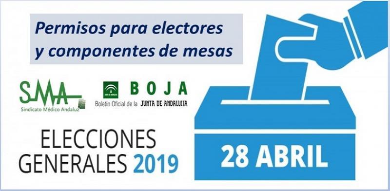 Permisos para los electores y componentes de las mesas electorales del próximo 28-A.