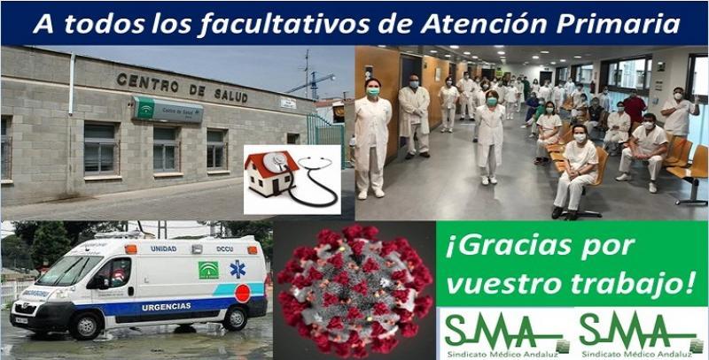 Los facultativos de Atención Primaria en Andalucía frente al coronavirus: los grandes olvidados.