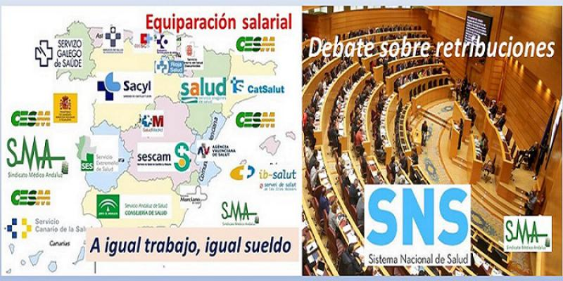 Debate en el senado para homogeneizar las retribuciones de los profesionales del SNS.