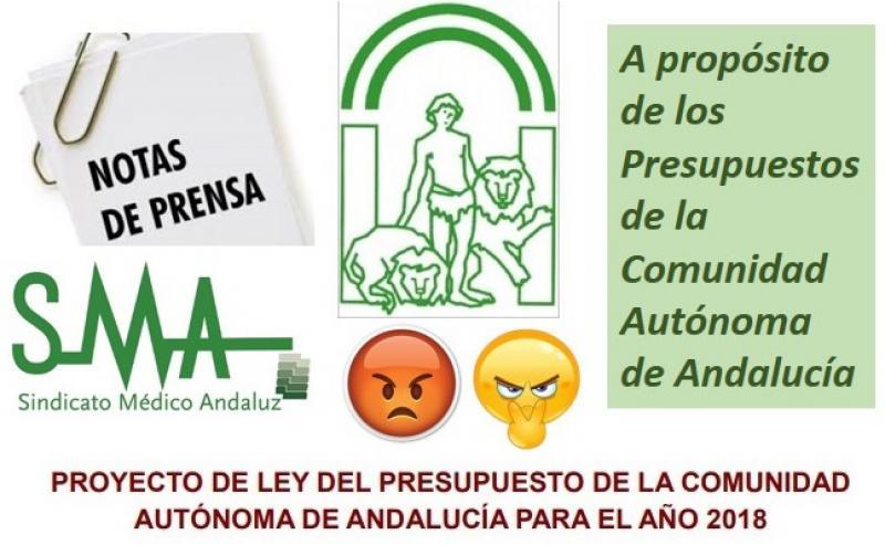 El presupuesto de Andalucía para el 2018.