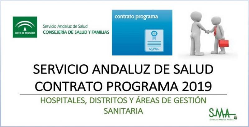 Disponible el contrato programa del SAS 2019 para Hospitales, Distritos y Áreas de Gestión Sanitaria.