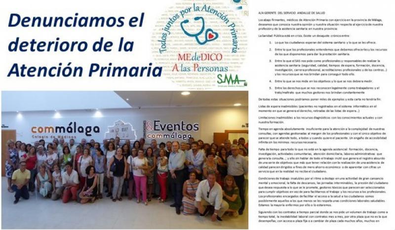 Más de 150 médicos de centros de salud de Málaga exigen cambios ante el deterioro de la Atención Primaria.