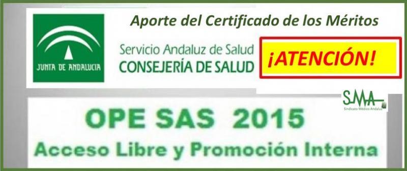 Urgente. OPE 2013-15. Aporte del certificado del Mérito para sustituir al justificante de haberlo solicitado.