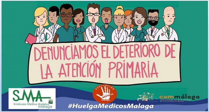 Unos 1.350 médicos de familia y pediatras están llamados a la huelga en Málaga.