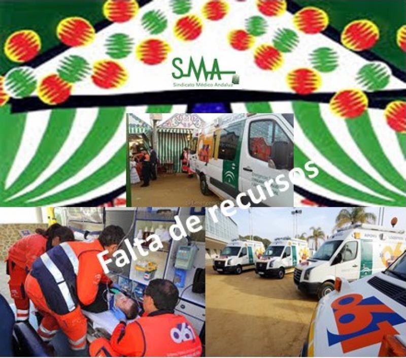 La plantilla del 061 advierte de la falta de recursos para cubrir la Feria de Abril.