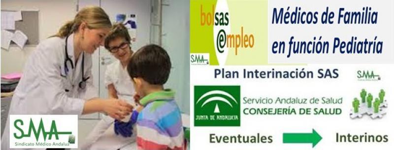 Médicos de Familia en función pediatría y acuerdo de interinación.