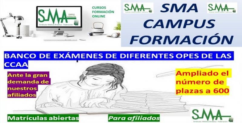 SMA CAMPUS FORMACIÓN: BANCO DE EXÁMENES SMA DE LAS DIFERENTES OPES DE LAS COMUNIDADES AUTÓNOMAS.