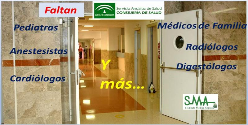 La falta de facultativos en el SAS provoca la saturación en sus especialidades médicas.