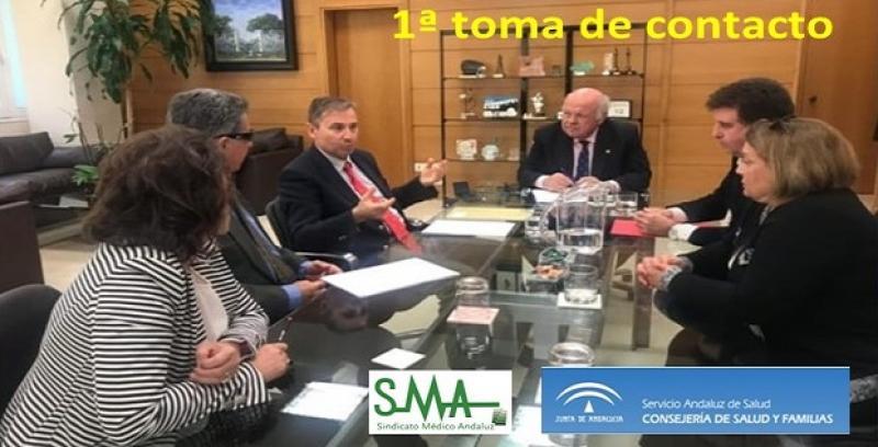 Primera toma de contacto del SMA con la administración sanitaria.