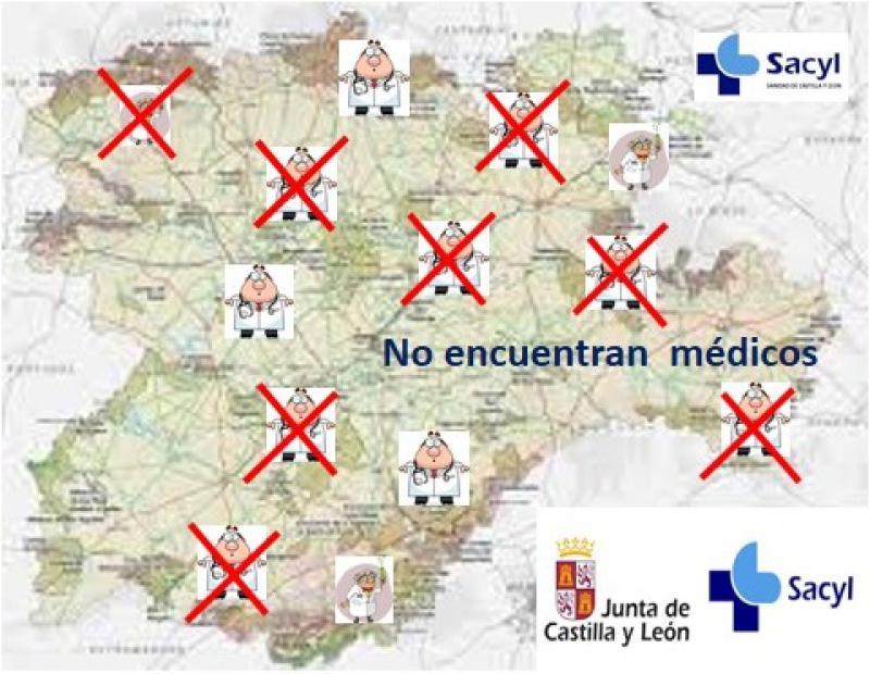 La Consejería de Sanidad de Castilla y León, no encuentra médicos para sus zonas rurales.
