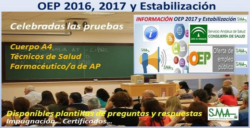 Celebrados el sábado 30 de marzo los exámenes de la OEP 2016, 2017 y Estabilización para el Cuerpo A4, Farmacéutico/a de AP y Técnicos de Salud.