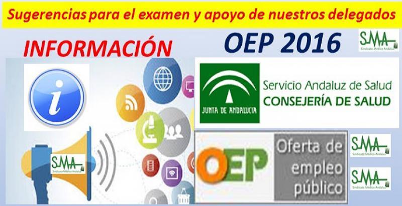 OEP 2016: Sugerencias para el examen y apoyo de nuestros delegados para todos los opositores.
