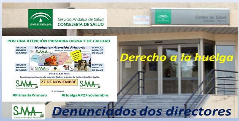 El Sindicato Médico denuncia a dos directores de centros de salud por obstaculizar el derecho a huelga.