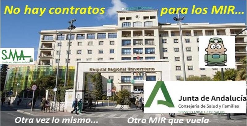 El Sindicato Médico de Málaga denuncia que el SAS deja sin contrato a sus MIR pese a la pandemia.