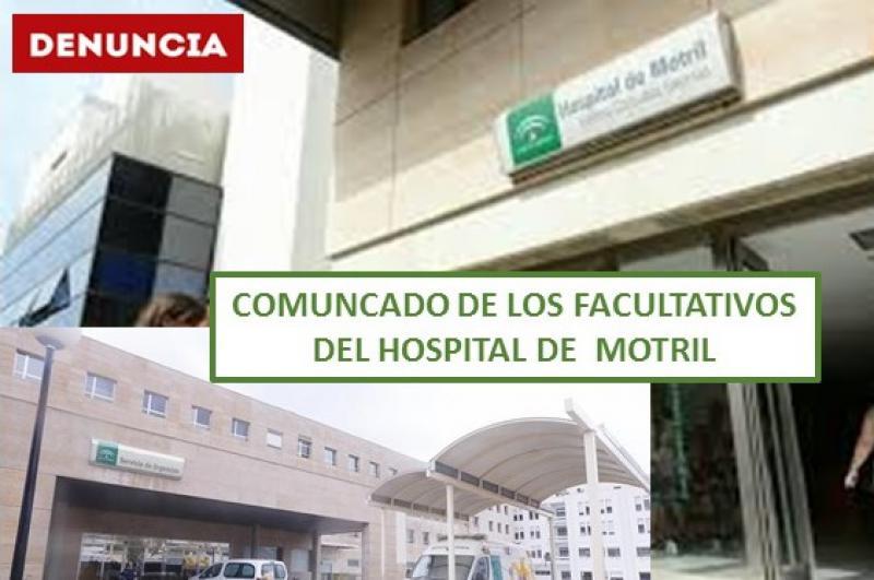 Los Facultativos del Hospital de Motril denuncian a la Fiscalía la situación de las urgencias.