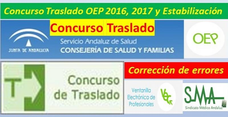 Concurso de Traslados: publicada en BOJA una corrección de errores de determinadas plazas de AP y FEA de Medicina Preventiva y Médico/a de Admisión.