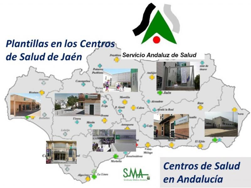 Plantillas reducidas hasta 12 días al mes en los centros de salud de Jaén.