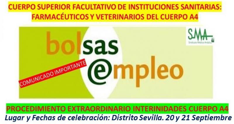 Acto único para adjudicación de interinidades en el Cuerpo Superior Facultativo, especialidades de Farmacia y Veterinaria.