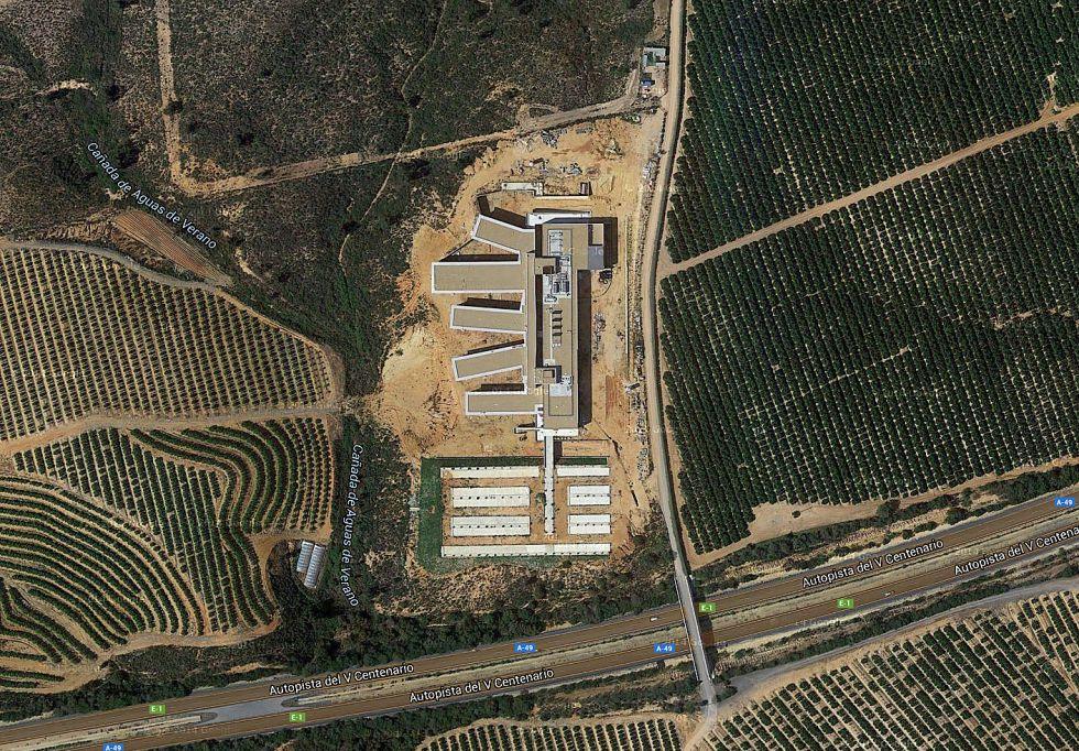 Vista aérea H. Costa de Huelva obtenida de Google Maps