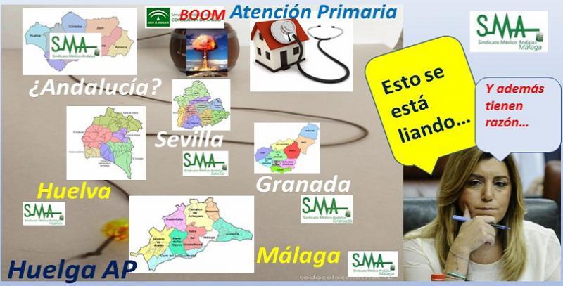 La huelga en Atención Primaria se recrudece en las provincias andaluzas.