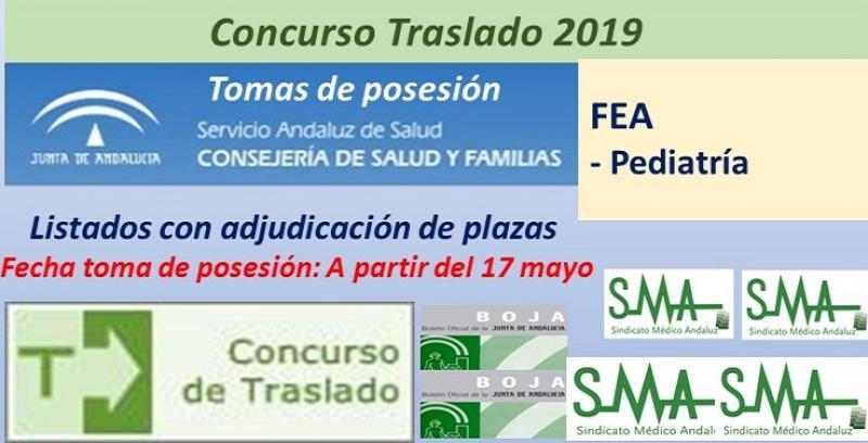 Concurso de Traslados 2019. Publicada en el Boja la resolución definitiva de FEA de Pediatría.