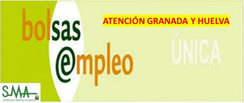 Comunicado de Bolsa Única de Empleo del SAS: actuaciones sobre la nueva estructura de centros en Granada y Huelva.