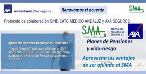Nueva oferta de seguros AXA. Planes de pensiones y seguros vida-riesgo.
