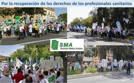 Los sindicatos profesionales de la sanidad andaluza exigen la devolución «real» de los recortes.