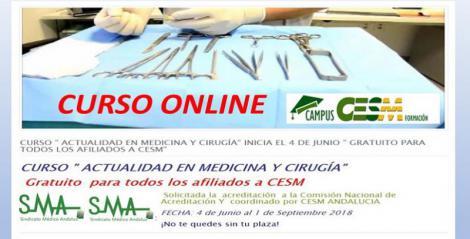 Nuevos cursos de formación en Campus CESM. Actualización en Medicina y Cirugía.