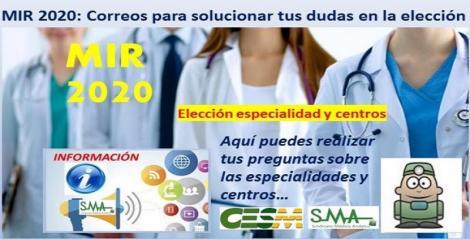 Elección MIR 2020: El SMA colabora con los sindicatos médicos de España para ayudar a los aspirantes a elegir plaza.