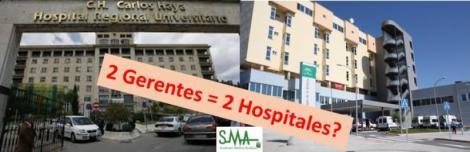 Salud también recupera gerentes diferenciados en los dos hospitales de Málaga.