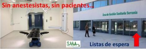 El Sindicato Médico critica la falta de anestesistas en el Hospital de Ronda y el aumento de la lista de espera quirúrgica.