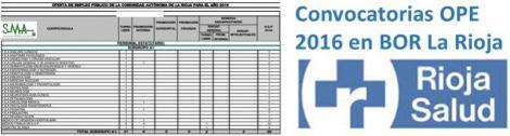 Publicadas las convocatorias de la OPE 2016 en la Comunidad Autónoma de La Rioja.