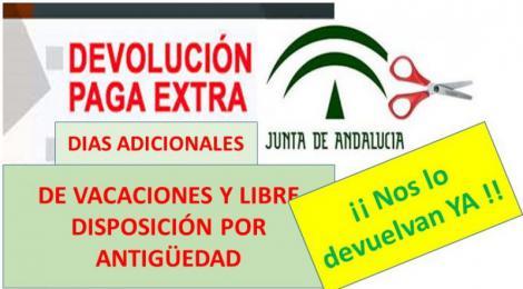 Andalucía sigue sin recuperar los días canosos y nada de la paga extra del 2012. Cada vez más en la cola…