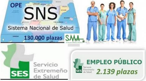 El Servicio Extremeño de Salud (SES) plantea una oferta extraordinaria de 2.139 plazas para bajar al 8% la interinidad.
