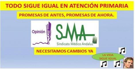 Atención Primaria en el Servicio Andaluz de Salud con los de antes y los de ahora: ¿todo va a seguir igual?